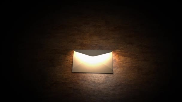 The mysterious letter, envelope, secret. Mysterious letter with magic light. 54