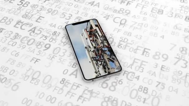 Mobilfunk, Sender, Signalstärke. Arbeiten Sie Handy durch Mobilfunkmasten. 4g, 5g. 38.