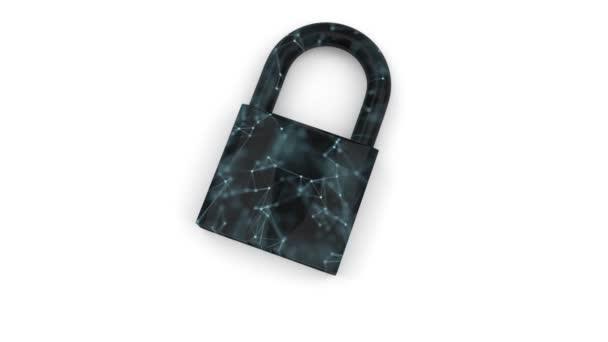 Digitální bezpečnost. Chrání vaše informace. Uzamčení osobních dat a klíč.