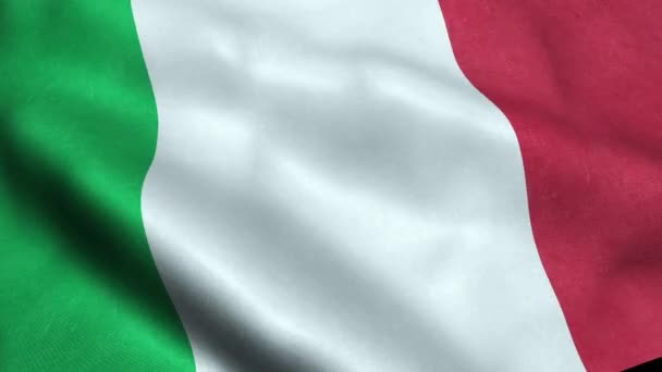 Italy Flag Seamless Looping Waving Animation