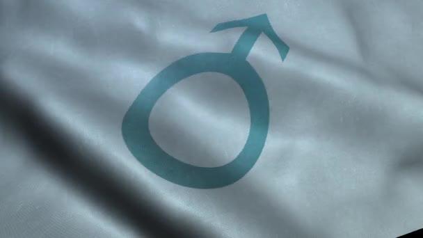 Mávání vlajkou wih znak mužského pohlaví