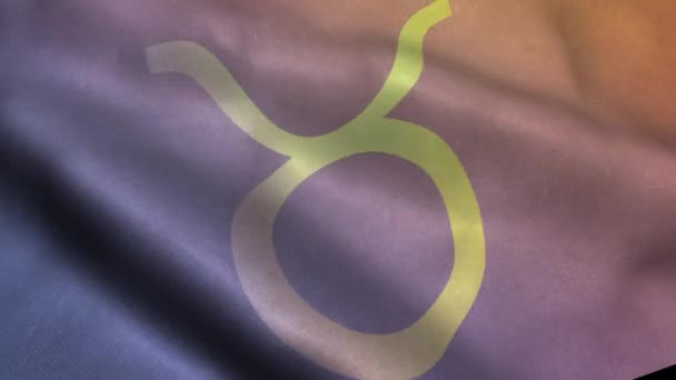 Waving Flag wih Taurus Astrological Sign