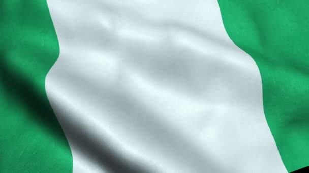 Nigeria Flag Seamless Looping Waving Animation