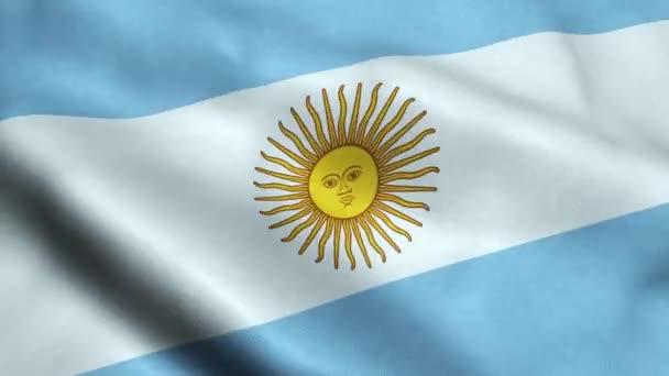 Argentina Flag Seamless Looping Waving Animation