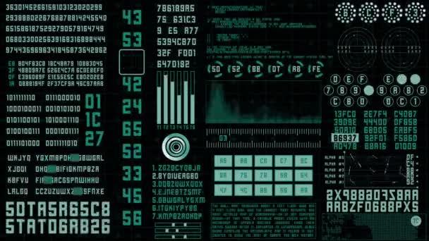 Futuristický datový kód na plátně 4k