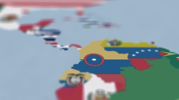 Mapa světa na mapě Severní Ameriky s mělkými hloubkou pole a zaměřením se na Salvador