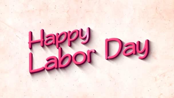 Boldog Labor Day-ban 3D szöveg háttér
