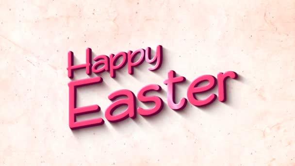 Frohe Ostern in 3D Text Hintergrund
