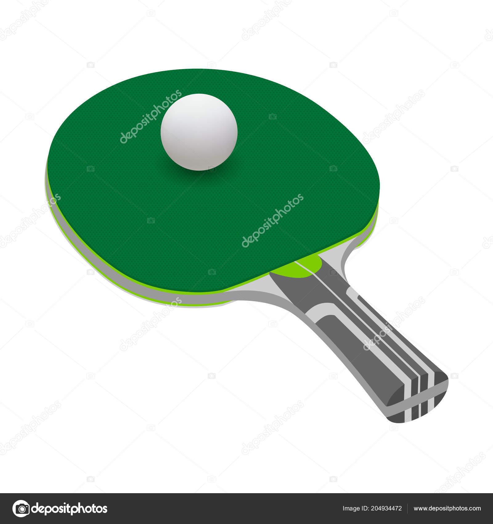 9b3e4346f Raquete Tênis Vetor Fundo Branco Raquete Pong Ping Vetor Bola — Vetores de  Stock