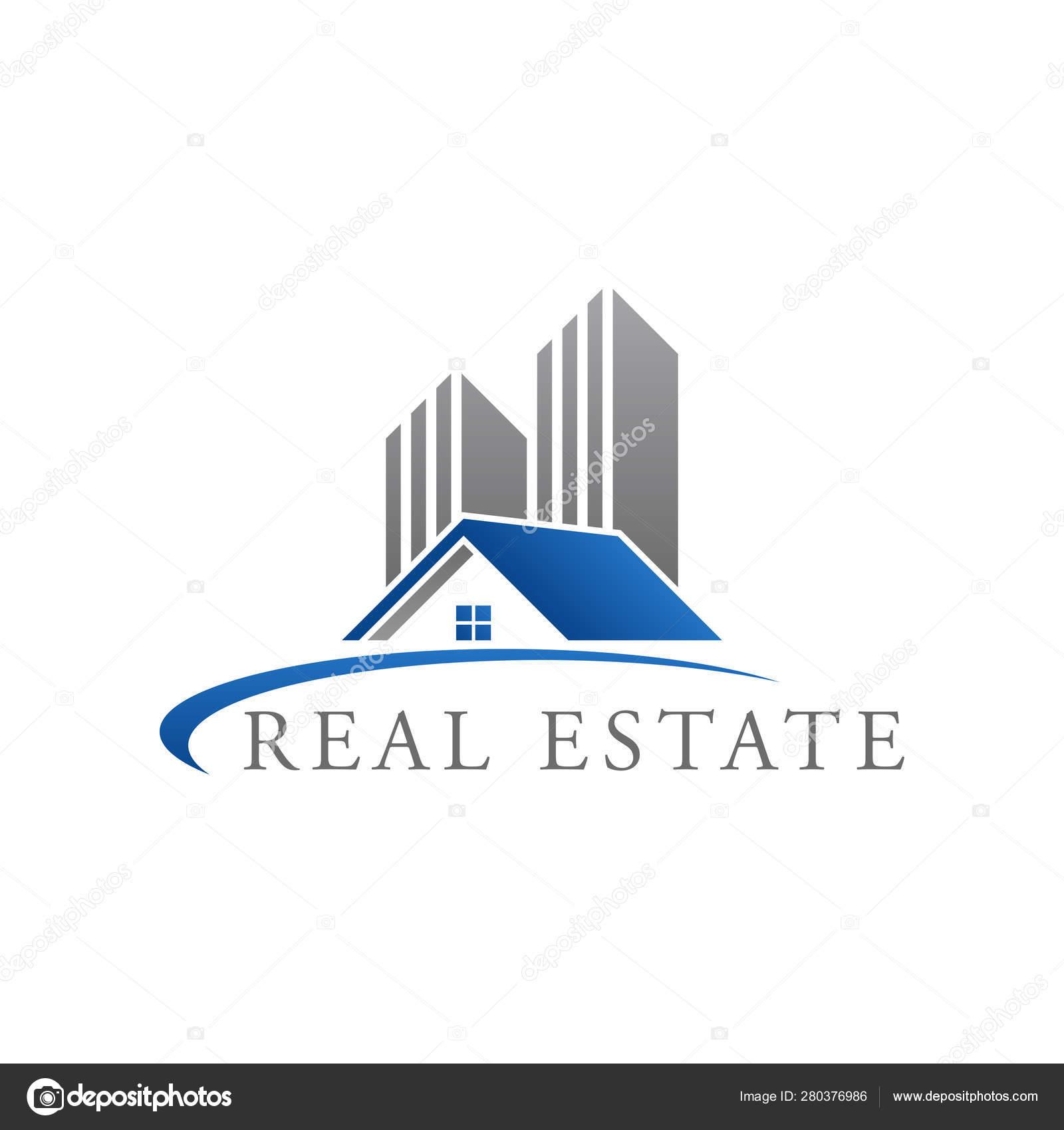 Real Estate Construction Logo Design Vector Template House