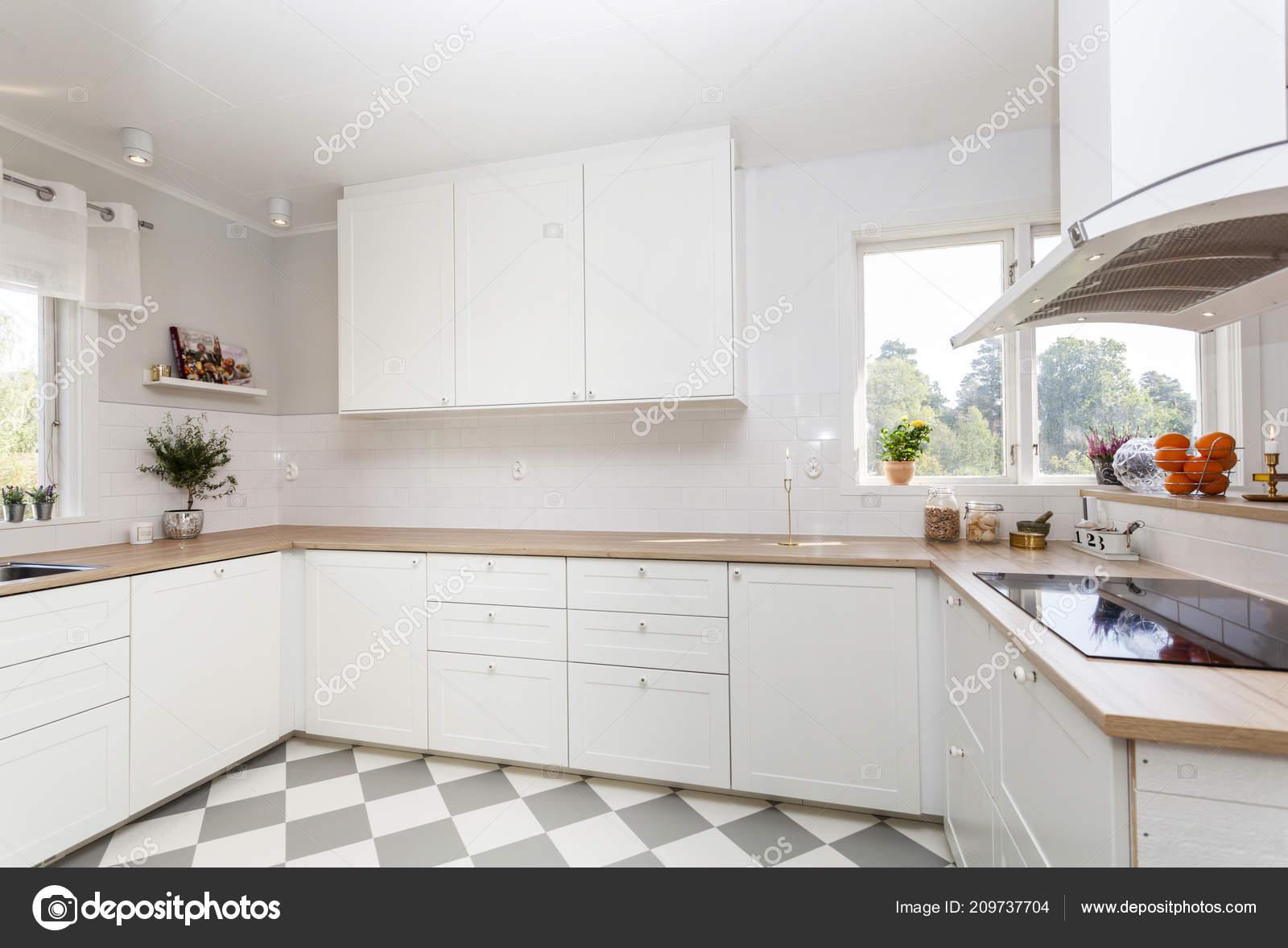 Interiore Fantasia Della Cucina Con Pavimento Controllato — Foto ...