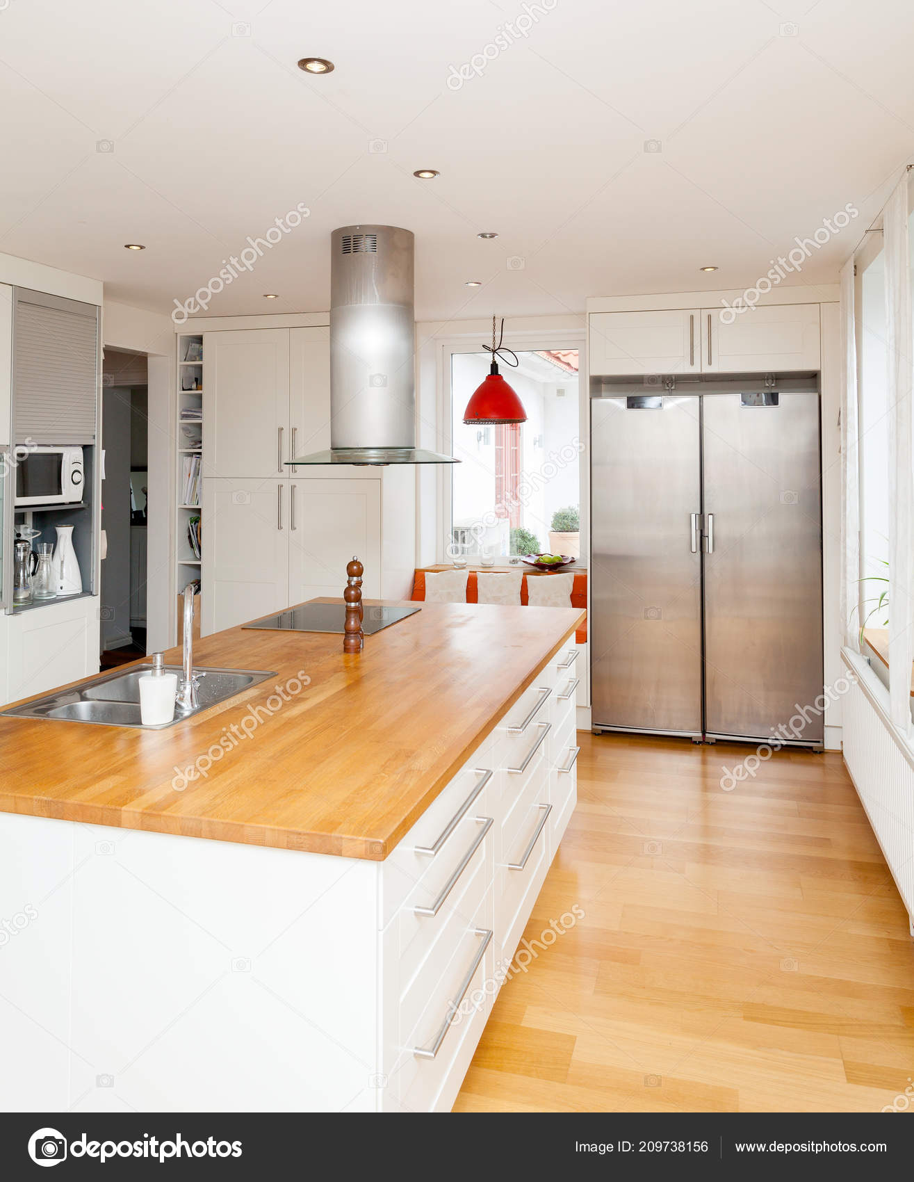 Moderne Westliche Küche Interieur Eine Schicke Küche Mit ...