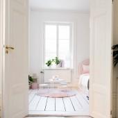 Fényképek belső hálószoba ablak és ágy