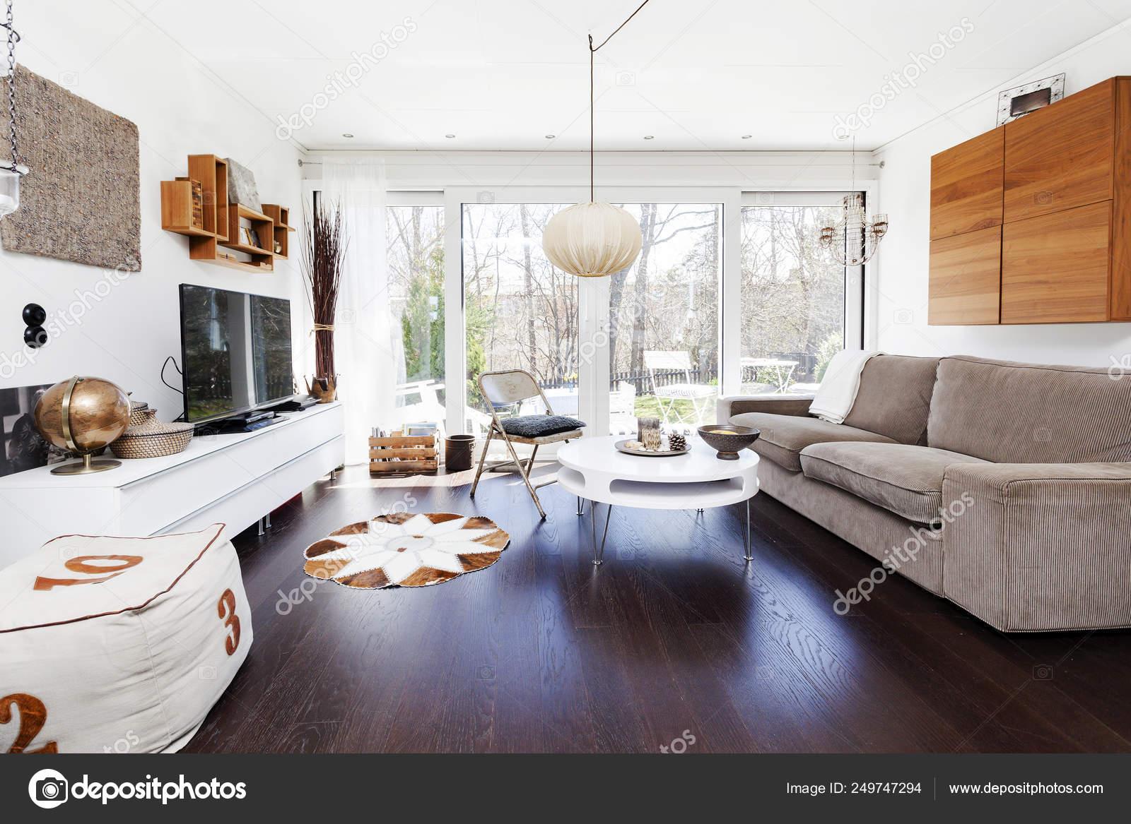 Fancy Living Room Interior Dark Floor, Fancy Living Room