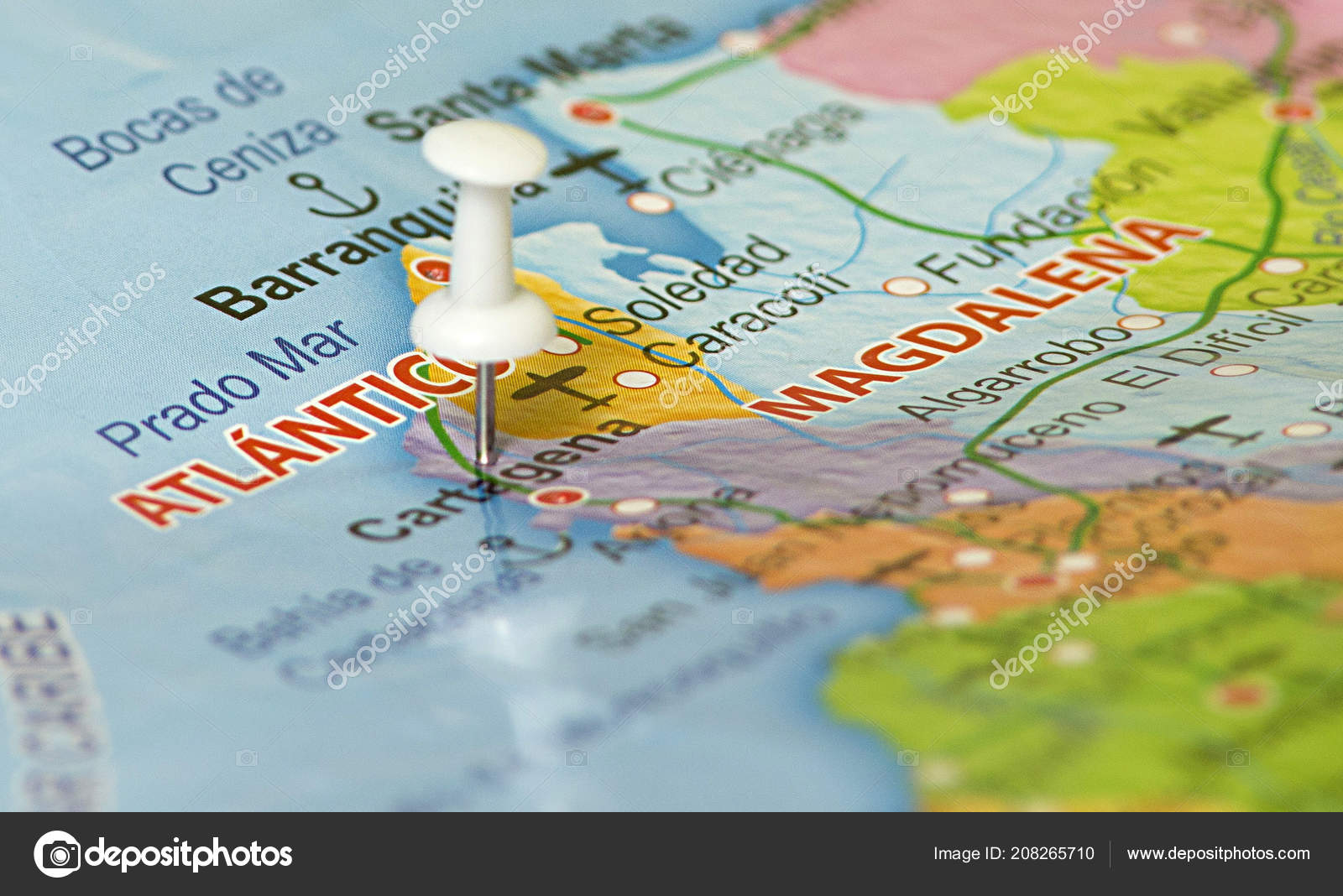 Map Colombia Location Bogota Colombia Marked Map Pin — Stock Photo on