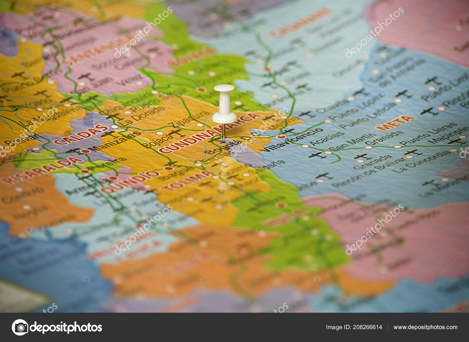 Map Colombia Location Bogota Colombia Marked Map Pin — Stock Photo ...