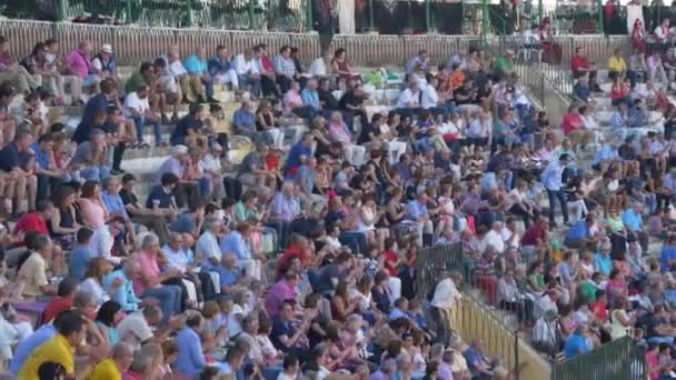 REQUENA, SPAIN - SEPTEMBER 2, 2017: I publish in the Bullring of Spain watching a bullfight