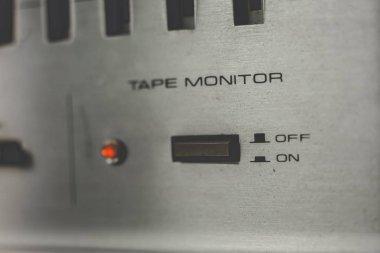 Vintage sound equipment, vintage color