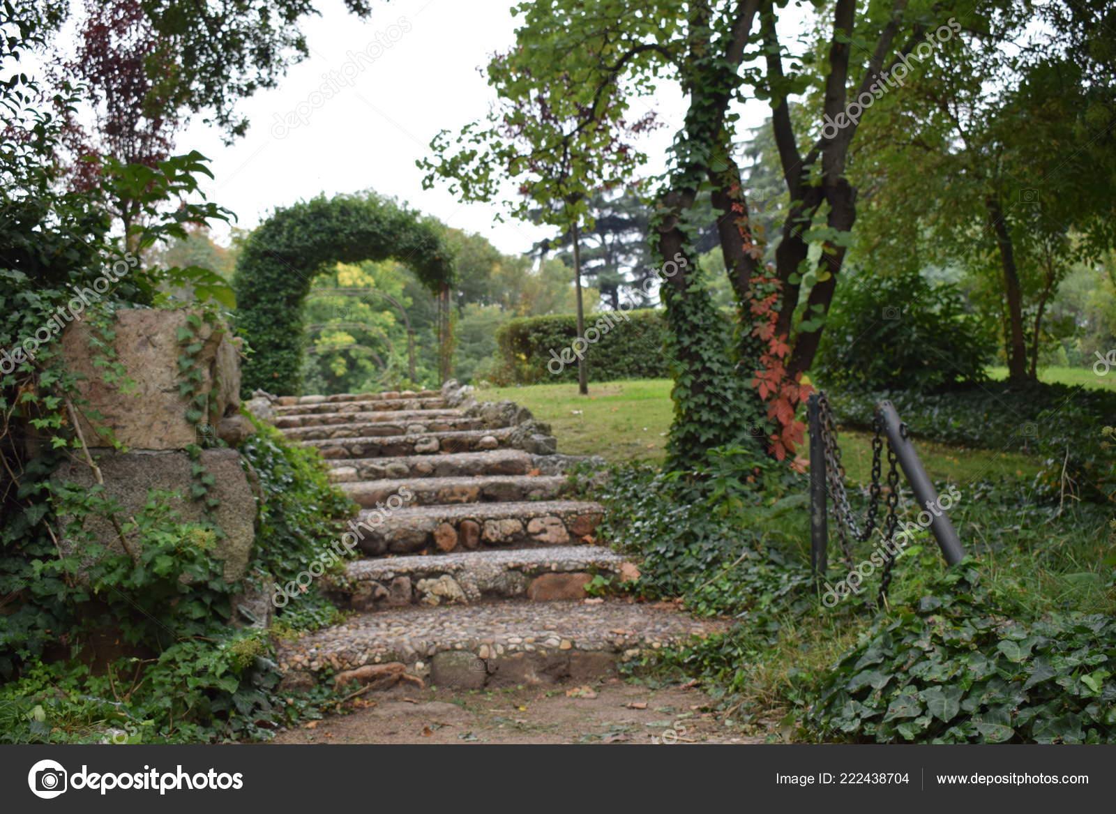 Madrid Spain October 2018 Campo Del Moro Name Gardens Next Stock