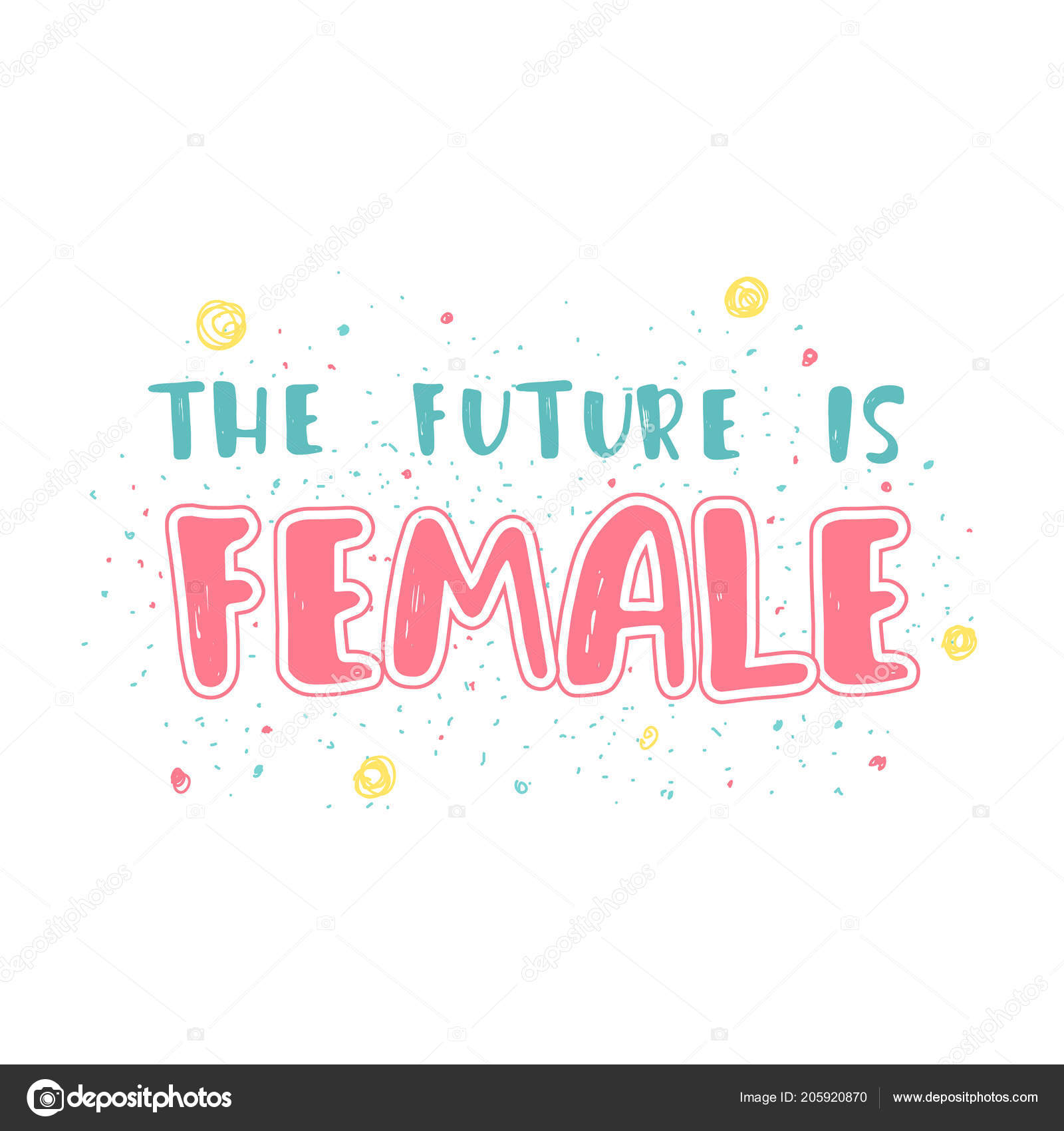 80849a10830a3 Citation de féminisme, slogan motivation femme. Dans chaque femme il y a  une reine. Lettrage imprimé à la main. Inscription pour les t-shirts,  affiches, ...
