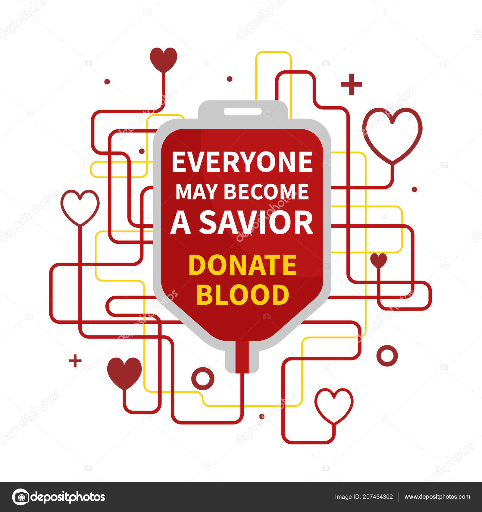 blood donation vector illustration red heart drop counter world