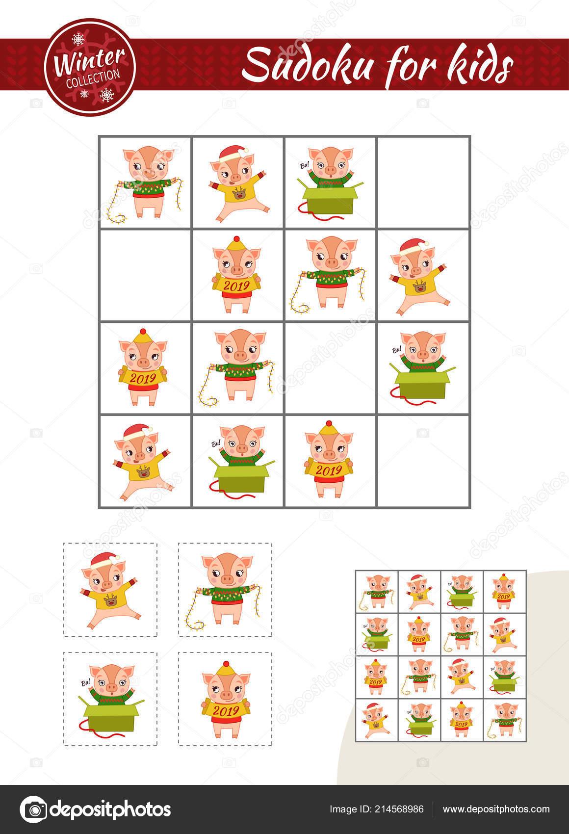 Sudoku Juego Para Ninos Con Imagenes Hoja Actividades Los Ninos