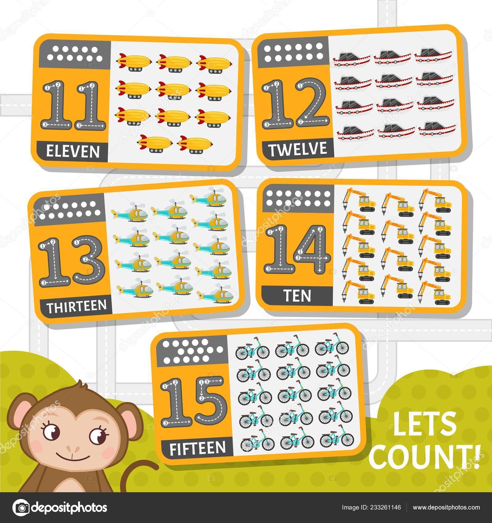 Material Aprendizaje Los Niños Tarjeta Para Aprendizaje Los Números