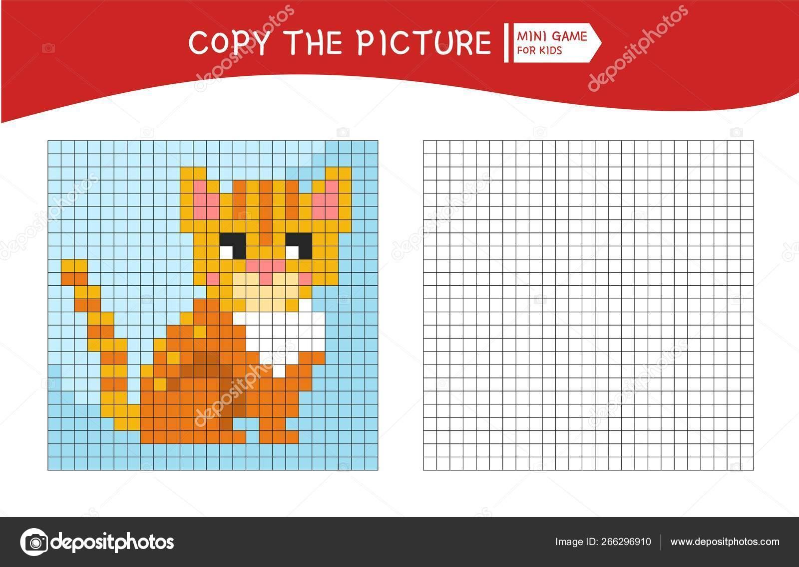 Coloring Book Children Color Number Vector Illustration Cartoon Kitten Stock Vector C Igdeevaalena 266296910