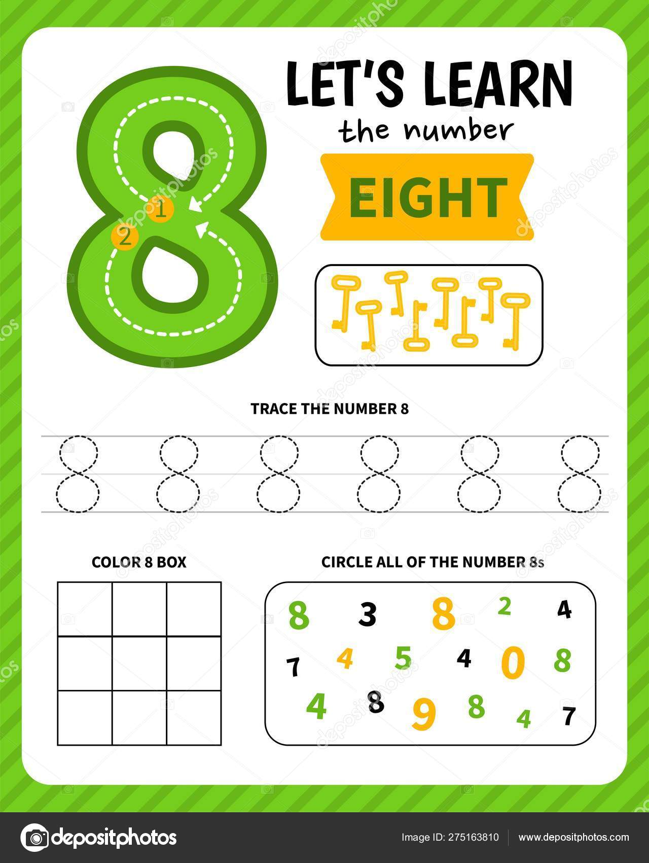 Kids Learning Material Worksheet Learning Numbers Number ...