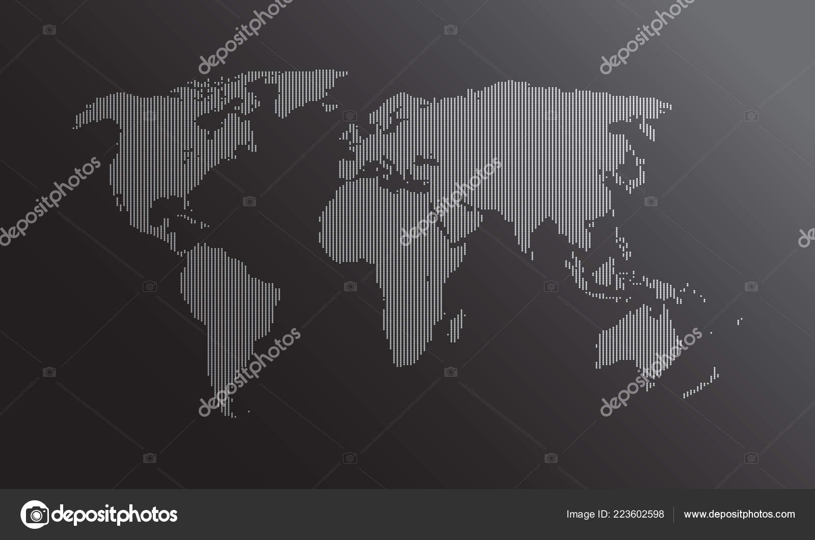 Dotted World Map Vector Flat Earth Map Website Annual Report — Stock ...