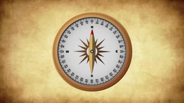 Golden Old Compass pointing Cardinal Points