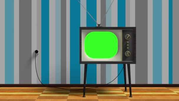 Green Screen régi Retro Tv