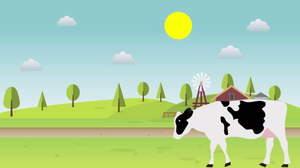 Cartoon Farm Aanimated Cow táj