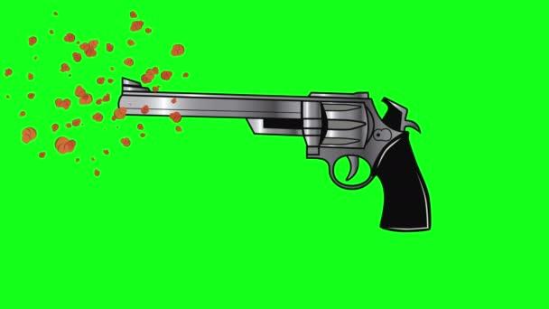 Zöld képernyő pisztoly revolver lőfegyver, zöld képernyő kézifegyvert, zöld képernyő pisztoly, zöld képernyő revolver lőfegyver fegyver hatása animáció pisztoly fegyver videó hatása, kézifegyvert pisztoly fegyver objektum lövések pisztoly
