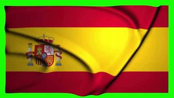 Spanyolország animáció zászló animáció zöld képernyő animáció Spanyolország integetett zászló integetett Green Screen integetett Spanyolország 4k Flag 4k zöld képernyő 4k Spanyolország ország zászlaja ország zöld képernyő ország