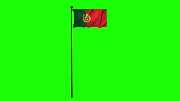 Portugália animációs zászló animáció zöld képernyő animáció Portugália video Flag videó zöld képernyő video Portugália portugál zászló portugál zöld képernyő portugál Portugália 4k zászló 4k zöld képernyő 4k