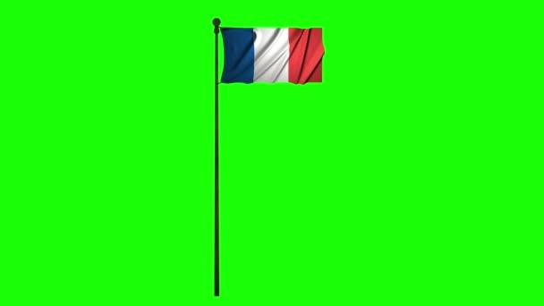Francie animace vlajka animace zelená obrazovka animace Francie mávající vlajka mávající zelená obrazovka mávající Francie 4 k vlajka 4k zelená obrazovka 4k Francie Francouzská vlajka francouzština zelená obrazovka francouzština