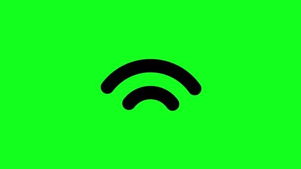 Grüner Bildschirm signalisiert drahtloses Symbol wi fi