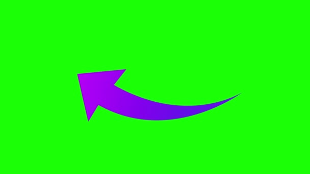 Green screen icon arrow flat signal indicator left