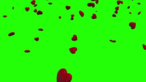 Green screen Hearth falling 3d