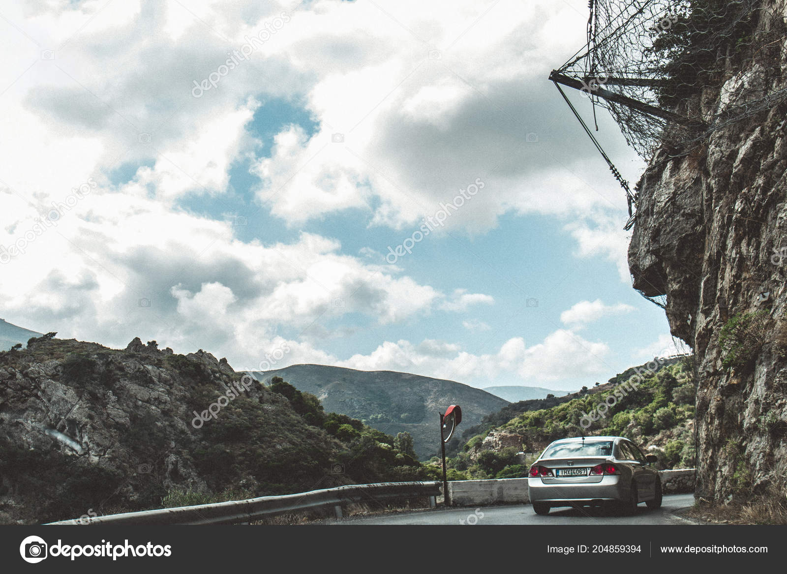 October 2Nd 2017 Topolia Greece Dangerous Mountain Road