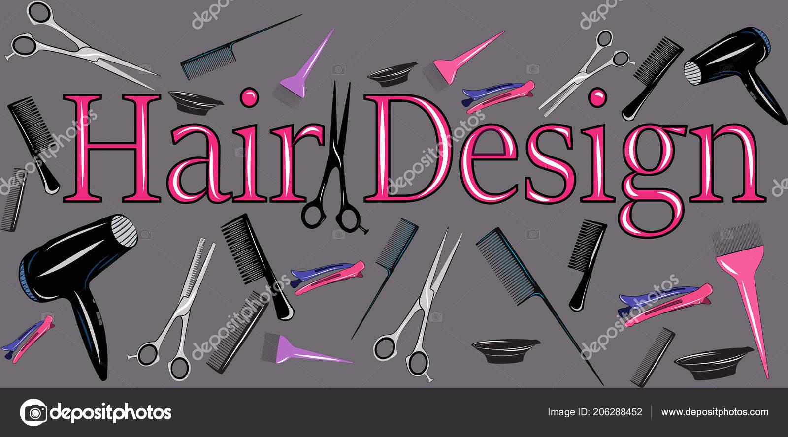 Abbildung Eines Friseur Tools Plakat Mit Friseur Tools Für Werbung