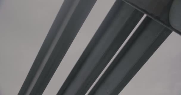 Concrete bridge during construction.