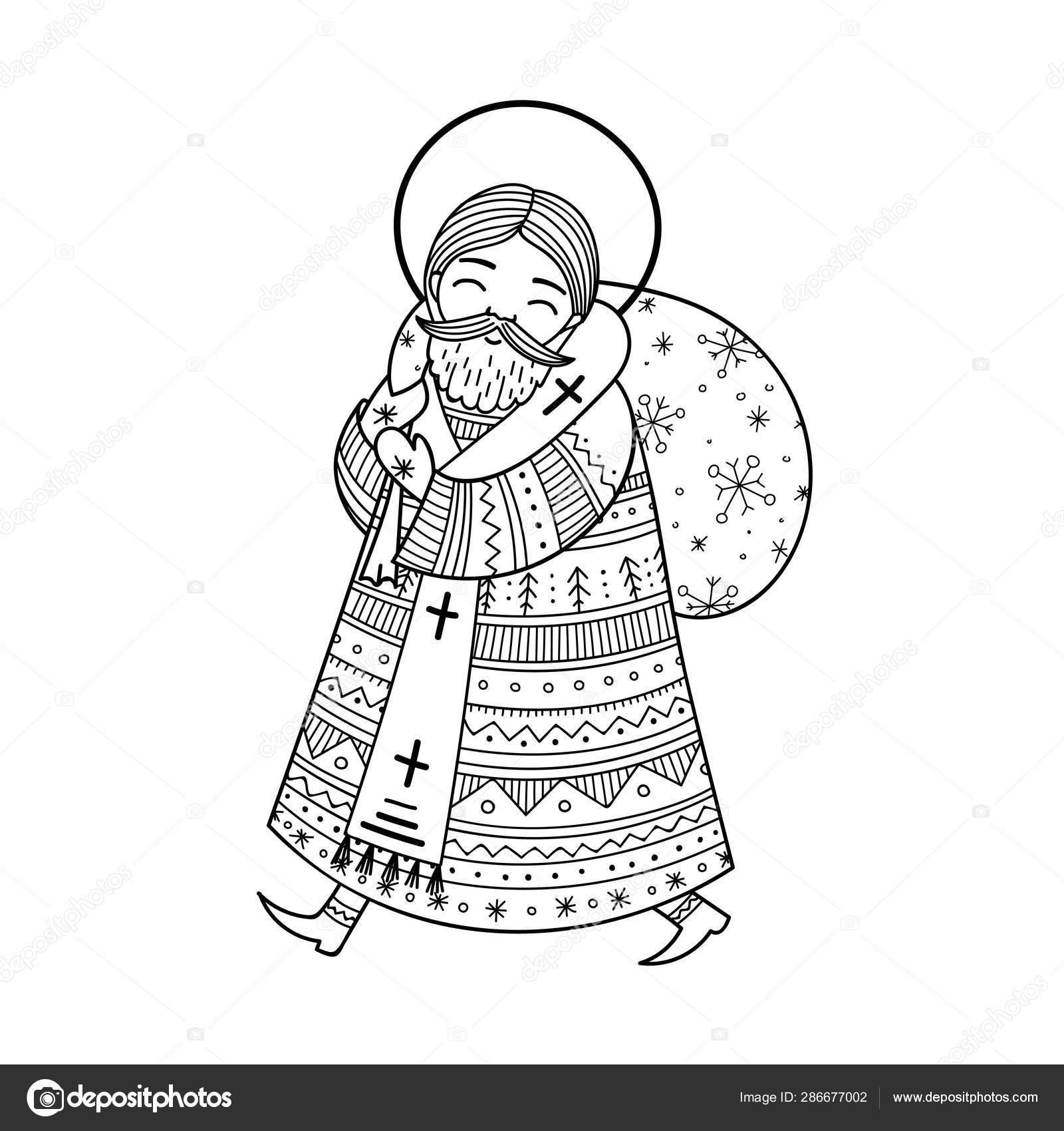 Coloring page Saint Nicholas Day | Ausmalbilder nikolaus, Sankt ... | 1700x1600