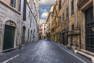 "Картина, постер, плакат, фотообои ""italian street via dei prefetti, with no people"", артикул 214816198"