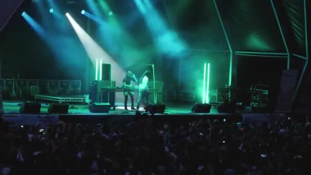 DJs on Stage at Music Festival Concert