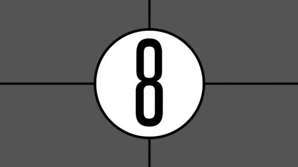animated old film projector countdown leader effect overlay stock