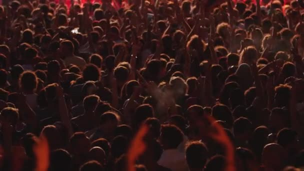 Crowd of People Dancing & Cheering at Music Festival Concert