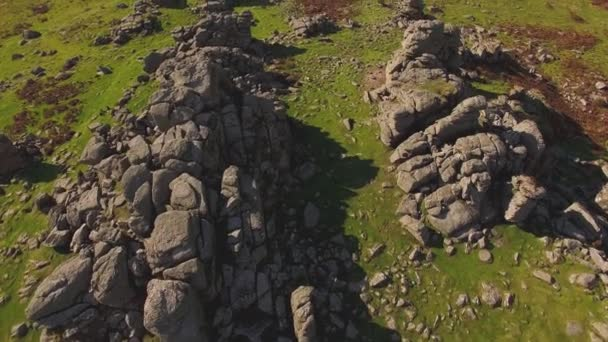 Granite Rock of Hound Tor, Autumn Colours, Dartmoor National Park UK Countryside