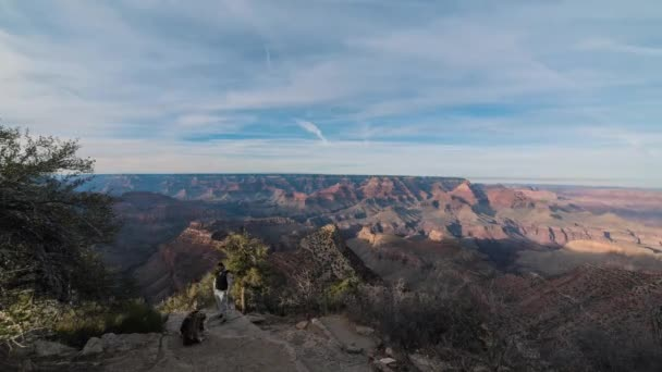 Cloudy Day to Night Time Lapse with Crowd of Tourists, Grand Canyon National Park, Arizona USA